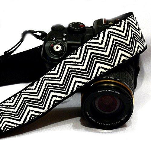 Chevron Camera Strap. DSLR SLR Camera Strap. Black White Camera Strap. Camera Accessories; 101
