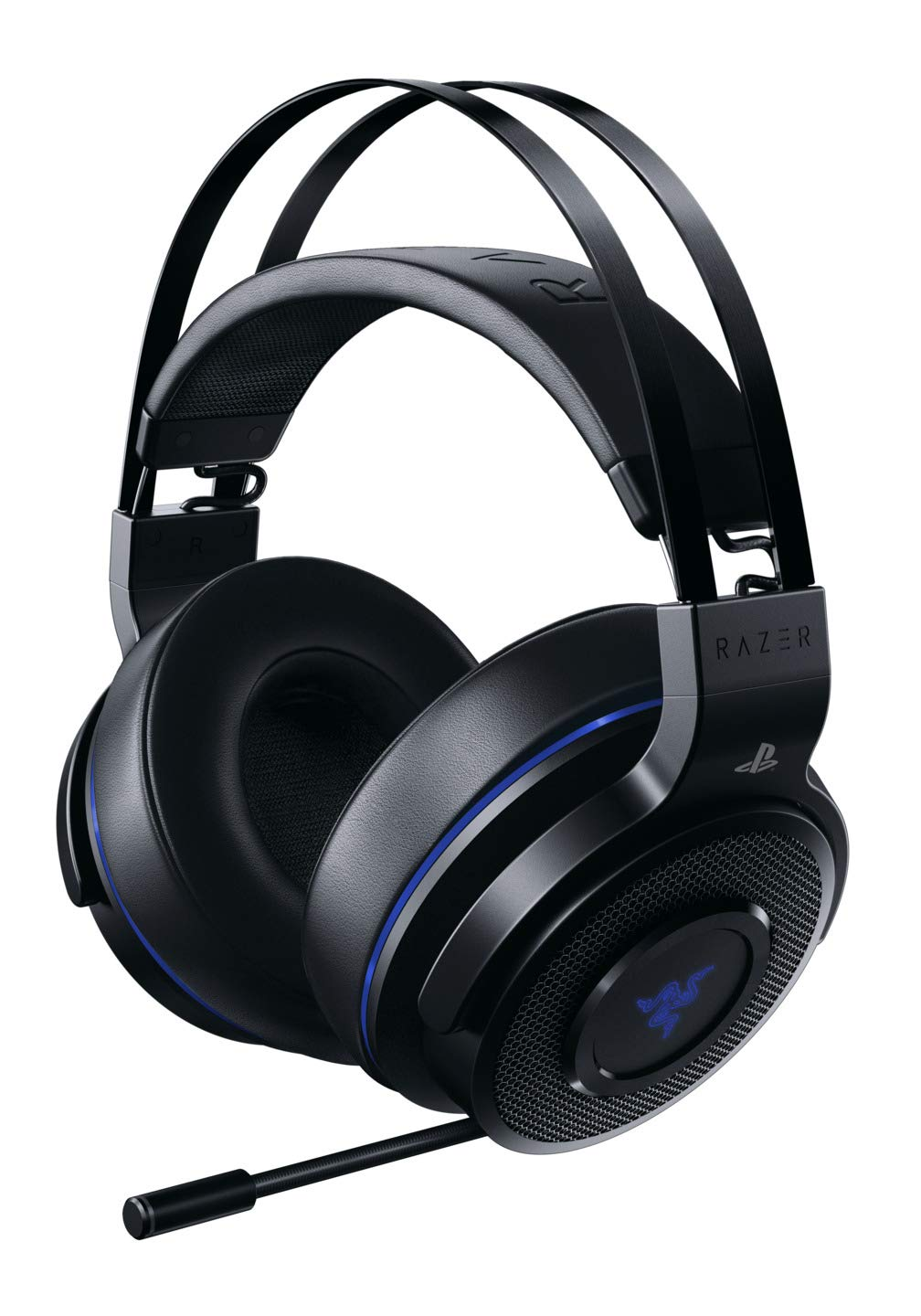 Razer Thresher 7.1: Dolby 7.1 Surround Sound - Lag-Free Wireless Connection - Retractable Digital Microphone - Gaming Headset Works with PC & PS4 Razer USA Ltd RZ04-02580100-R3U1