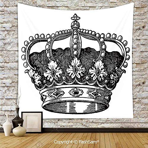 FashSam Tapestry Wall Blanket Wall Decor Antique Royal Crown Kingdom Emperor Ruler Czar Symbol Monarchy Authority Icon Decorative Home Decorations for Bedroom(W39xL59)