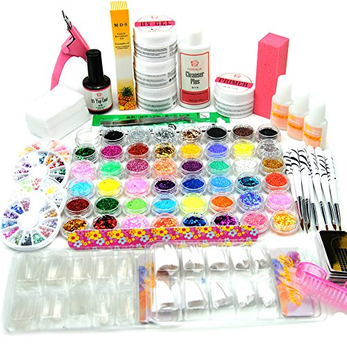 Coscelia Top Nagelset UV Gel Set Profi Nagelstudio Starterset Nail Art Set 48tlg Dekorationset