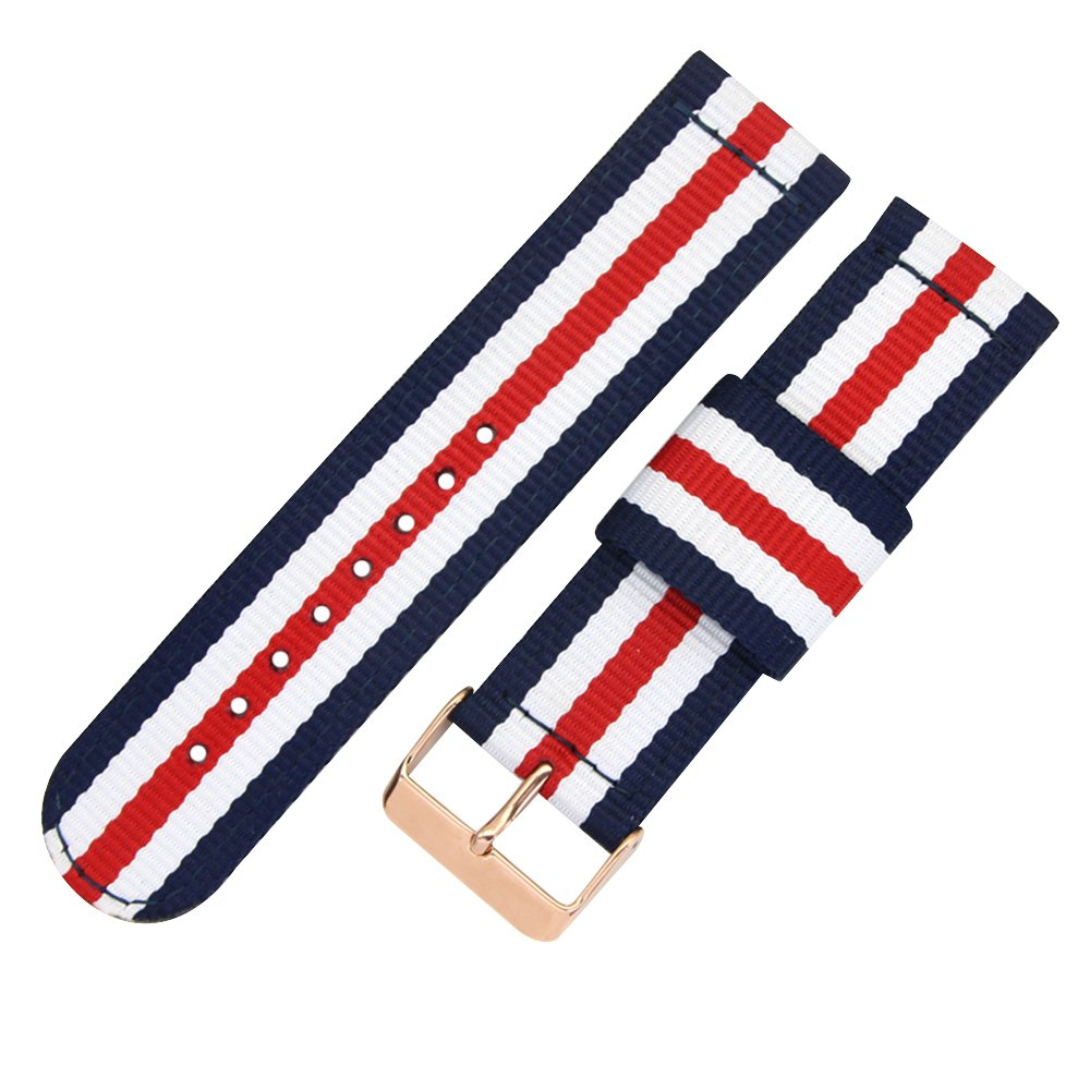 Top Grade Nylon Watch Straps Bands Nato style 20mm Replacements for Men Colorful Military Casual Durable by autulet (Image #1)