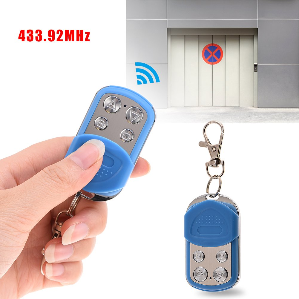 Blue Yosoo 433.92MHz 4 Channels Remote Control Waterproof Duplicator Car Alarm for Gate Door Garage Fast Copy