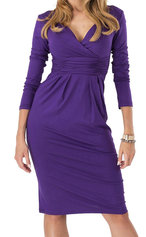 Women's Deep-V Neck Sexy Career Dresses(US S/M/L/XL)