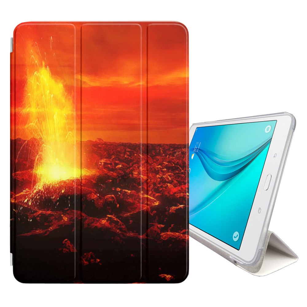 STPlus Sun Eruption Solar Space Smart Cover With Back Case + Auto Sleep/Wake Function + Stand for Samsung Galaxy Tab A 10.1'' (2016) - with S Pen (P580/P585 Series)