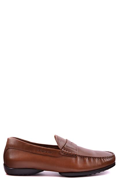 Men's MCBI293077O Brown Leather Loafers