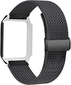 ALNBO Watch Band with Case Compatible with 38mm 42mm Stainless Steel Replacement Band for Watch Series 3 Series 2 Series 1 (Black, 38mm Watch)