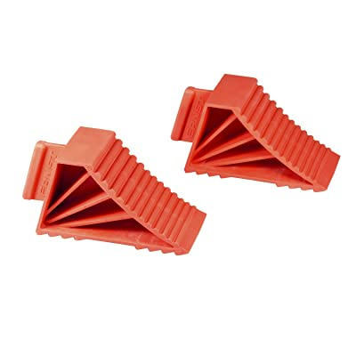 Ernst Manufacturing High-Grip Wheel Chocks, Set of 2, Red: Home Improvement