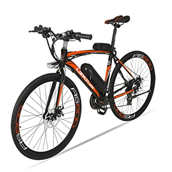 Extrbici bicicleta eléctrica RS600 MTB Bicicleta de montaña 700C x 28C-40H aleación de aluminio