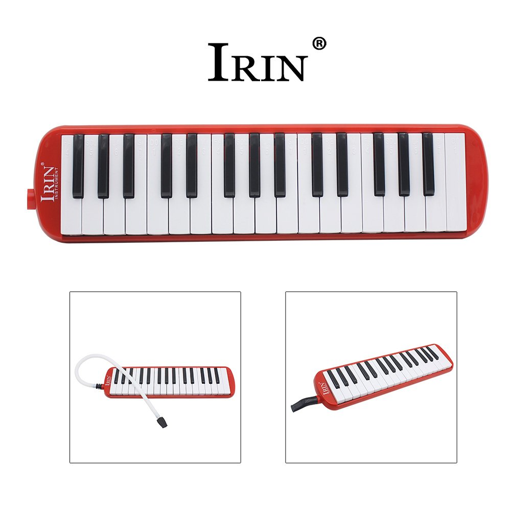 Baisidai 37 Key Melodica & Deluxe Carrying Case (Red)