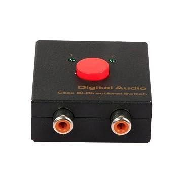 Conmutador bidireccional Coax de Audio Digital 2x1, admite la función de conmutación bidireccional, 5.1