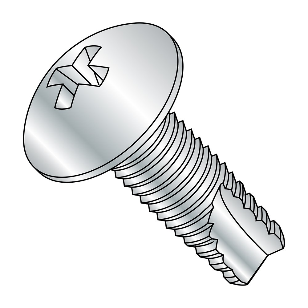 1//2 Length Pack of 100 Small Parts 06083PT #6-32 Thread Size Zinc Plated Finish Type 23 Pack of 100 Truss Head 1//2 Length Steel Thread Cutting Screw Phillips Drive