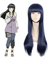Weeck Anime Naruto Shippuden Hinata Hyuga Blue Costume Cosplay Wigs