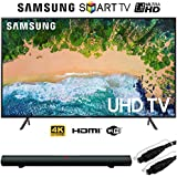Samsung Smart 4K UHD TV (2018 Model) with Sharper Image 37 Sound Bar Bluetooth Speaker With Optical Input and 6ft Optical Toslink 5.0mm OD Audio Cable (50)