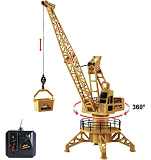Buy dickie remote control giant crane 100cm yellow online at low wire control rc crane lift tower 4ch engineer construction vehicle toy playset 360 degree rotate fandeluxe Gallery