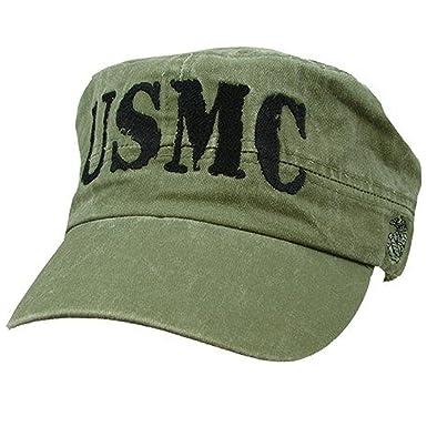 Amazon com: US Marine Corps Flat Top OD Green Ball Cap: Clothing