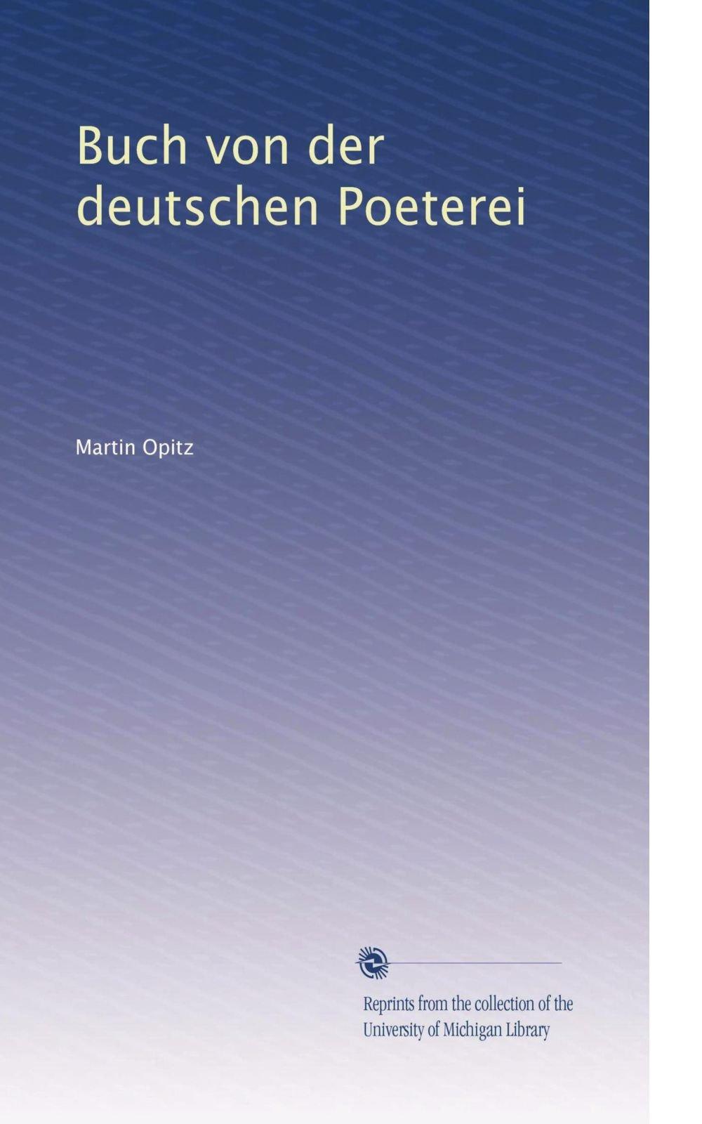 Buch von der deutschen Poeterei (German Edition) pdf epub
