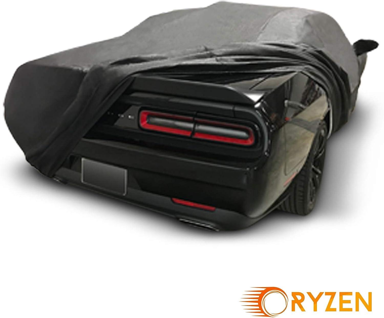 R//T, SRT, T//A, SXT, Hellcat Ryzen Custom Fit Custom Fit 2013-2018 Dodge Challenger Car Cover 5 Layer Ultrashield Black Covers