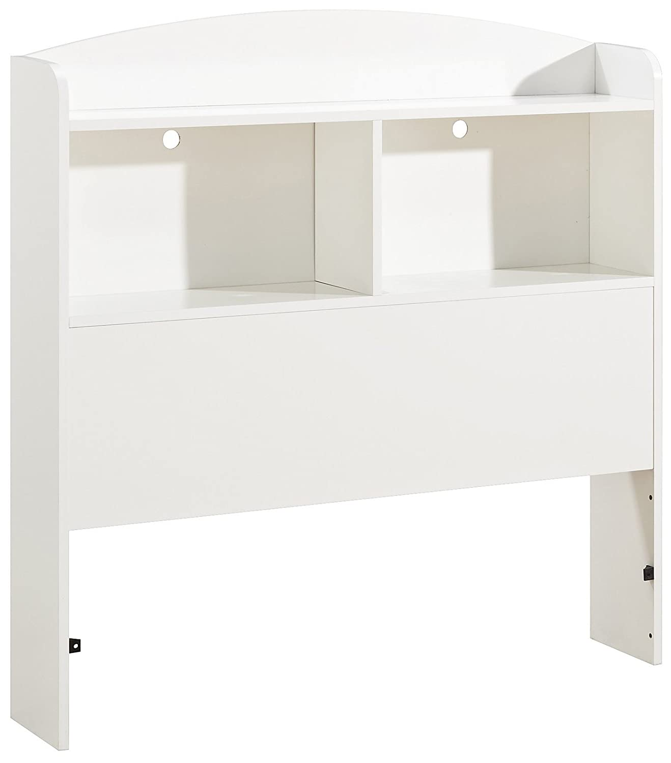 South Shore Furniture Logik Collection, Bookcase Headboard, Pure White 3360098 SS3360-098