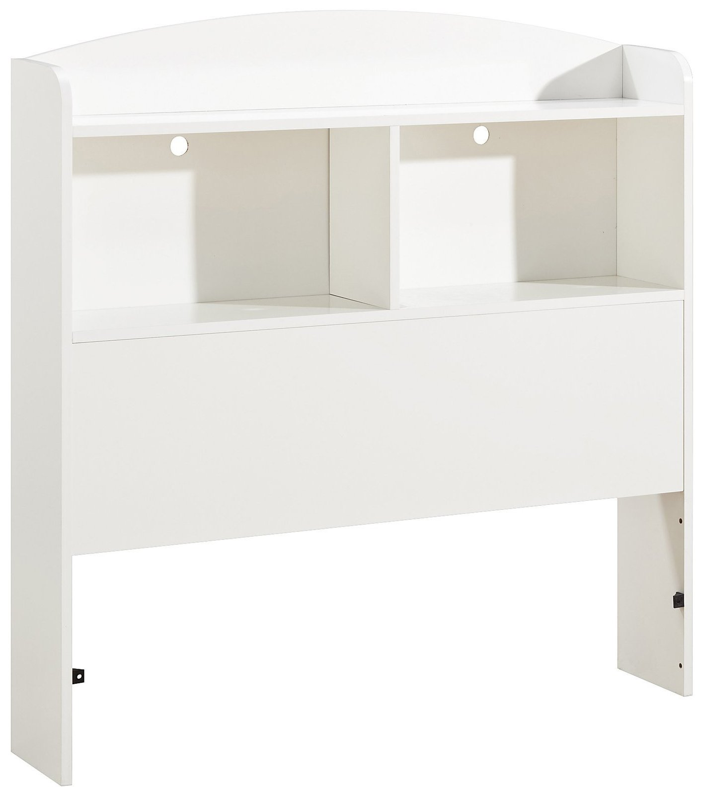 South Shore Logik Bookcase Headboard with Storage, Twin 39-inch, White