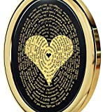 Nano Jewelry Gold Plated Love Necklace Pendant 24k