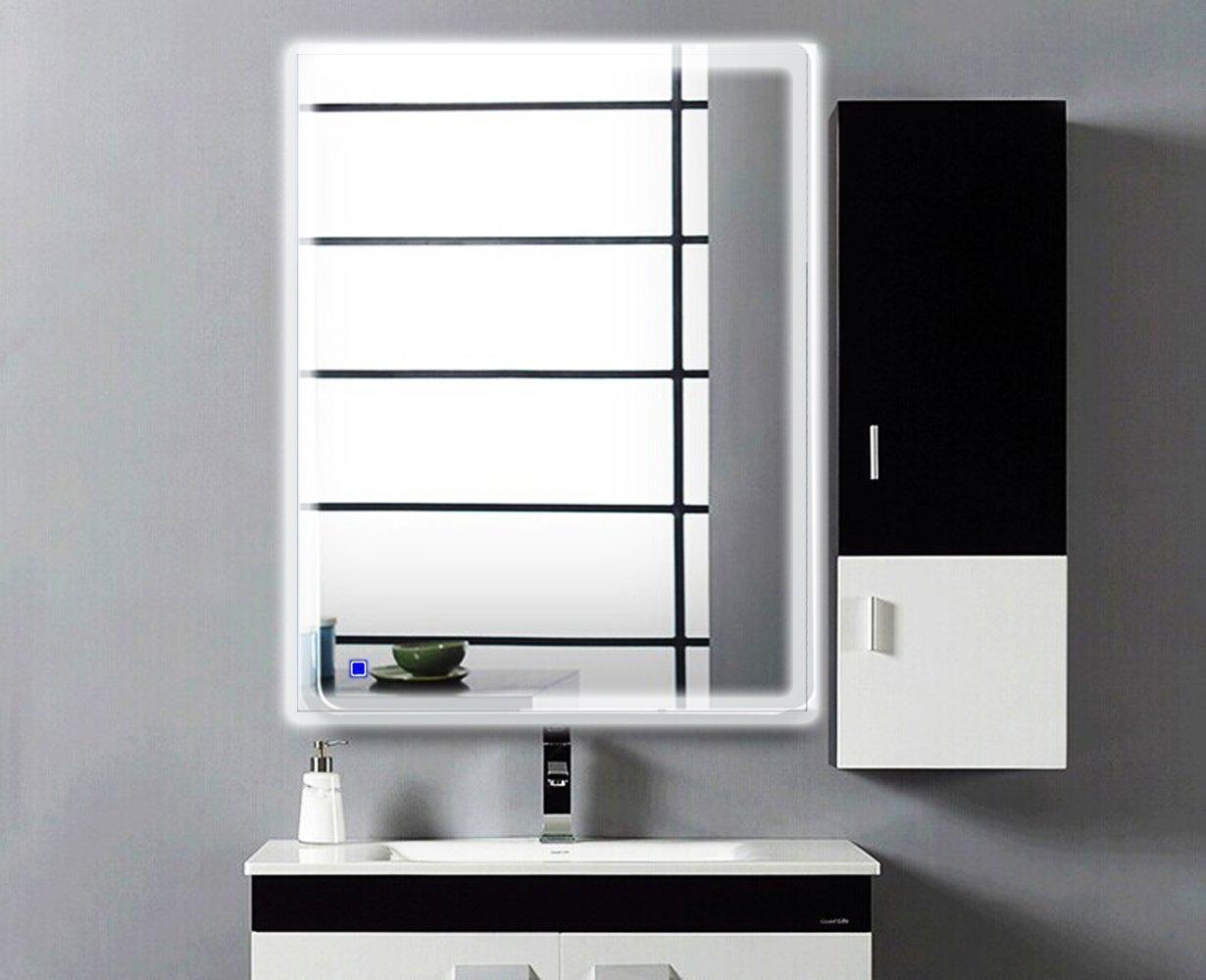 Amazon.com: H&A Dimmable LED Backlit Mirror Anti-fog Illuminated ...