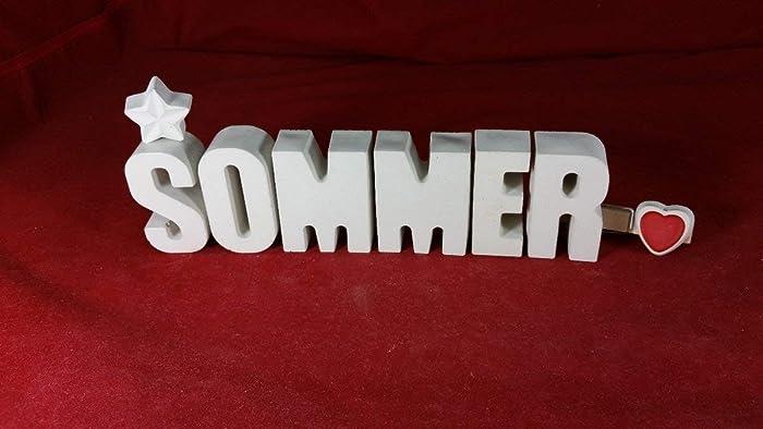 Beton Steinguss Buchstaben 3d Deko Namenszug Sommer Fertig Als