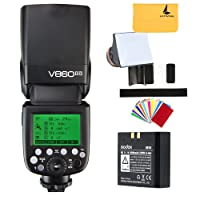 Godox V860II-O 2.4G GN60 inalambrico TTL HSS 1/8000s Bateria Lion Camara Flash Speedlite para Olympus E-M10II E-M5II E-M1 E-PL8 E-PL7E-PL3 PEN-F Camara y Panasonic DMC-CX85 DMC-G7 DMC-GF1 DMC-LX100 DMC-G85 Camara (V860II-O)