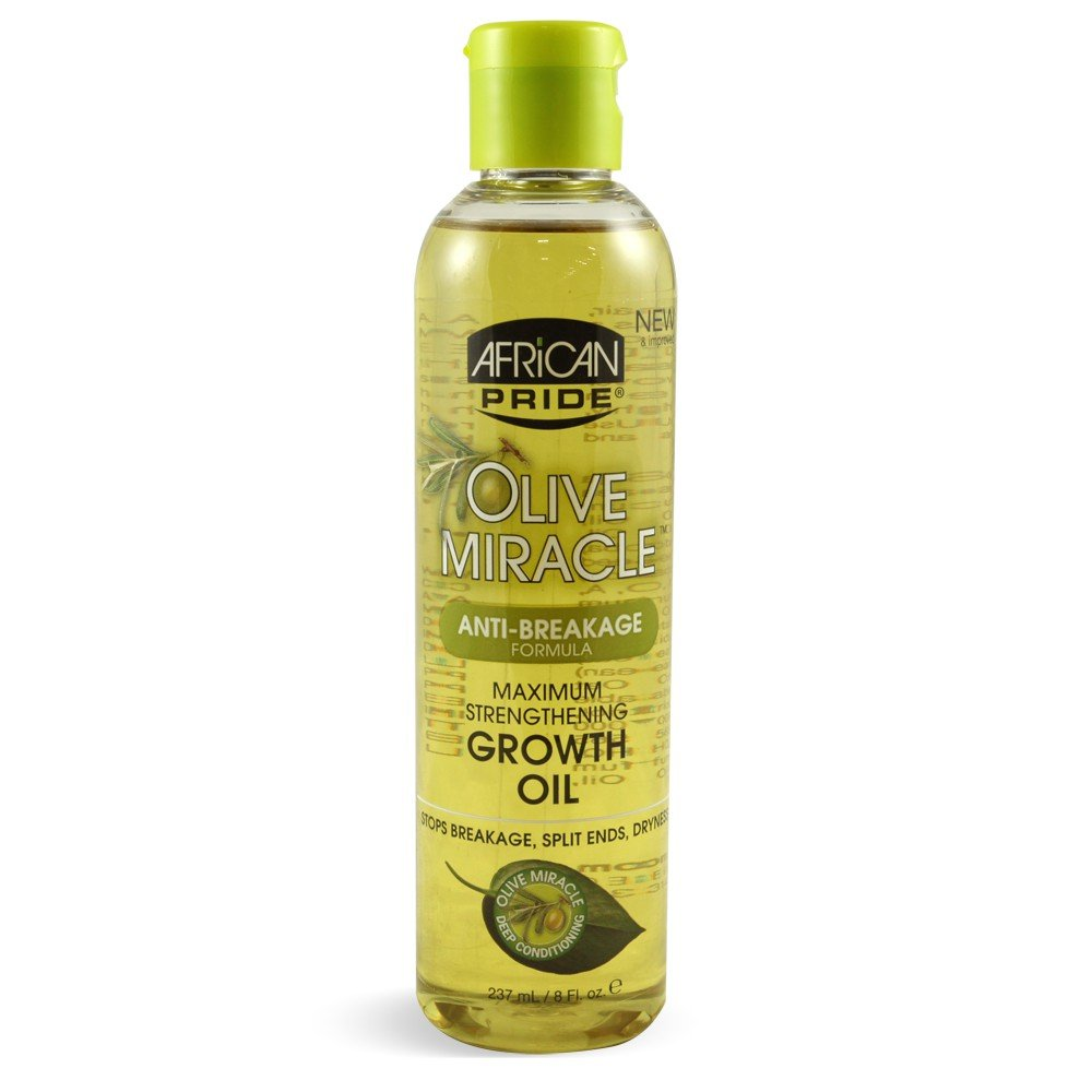 African Pride Olive Miracle Growth Oil, 8 Fluid Ounce