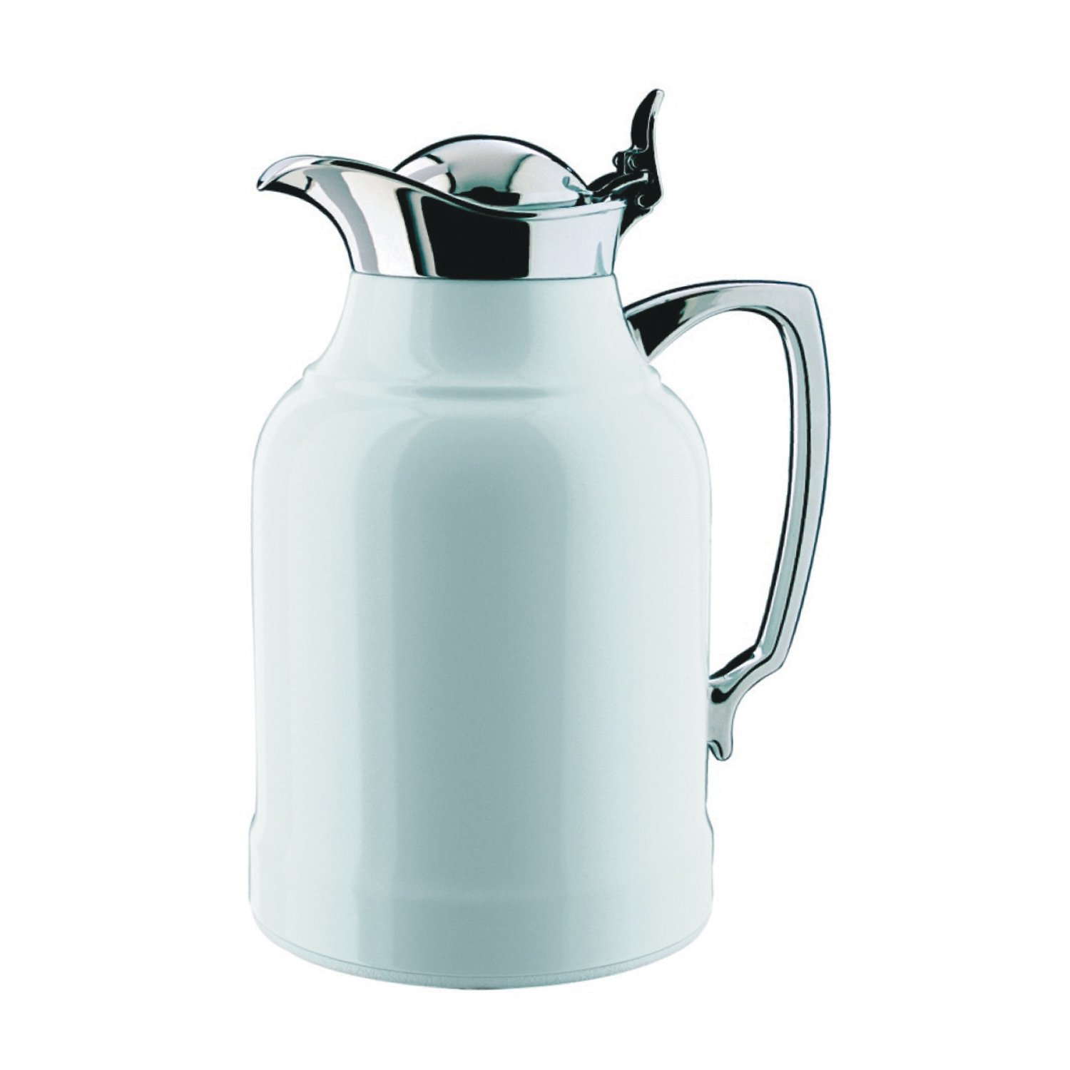 Alfi Opal White Lacquered Brass with Chrome Thermal Carafe, 33-Ounce