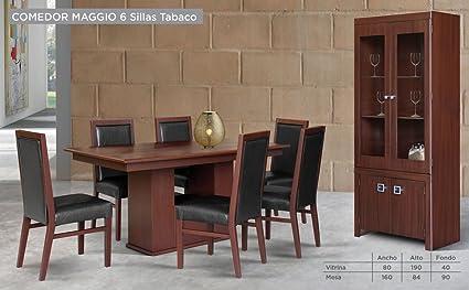HOME DESIGN Buffet Vitrina para Comedor Modelo Maggio - Tabaco ...