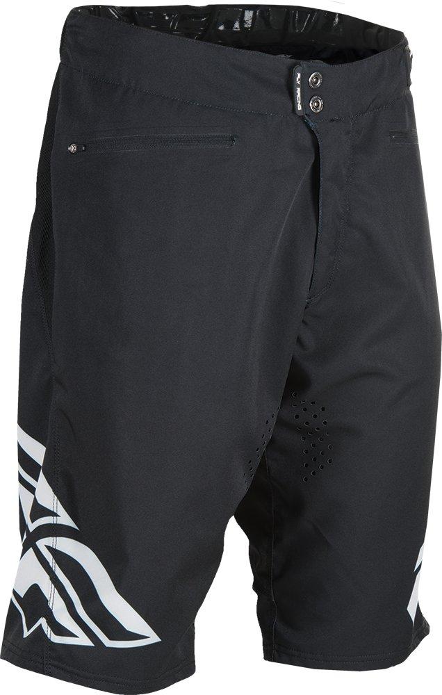 Fly Racing Unisex-Adult Radium Shorts (Black/White, Size 30)