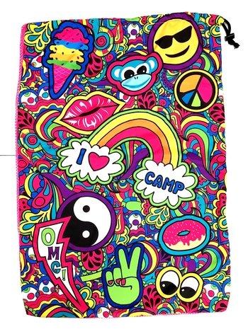 Bunk Junk Paisley Print Camp Drawstring Closure Mesh Childrens Laundry Bag Suitable for Home, Sleepaway, Travel, Camp,