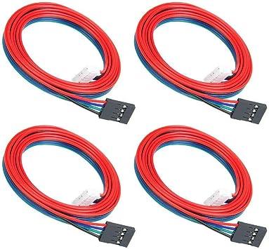 YOTINO 4Pcs Cables de Paso Largo NEMA 17 Motor de Impresora 3D ...