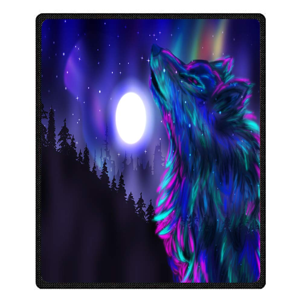 Throw Blanket XL XXL 3D Galaxy Wolf Style Warm Soft Microfiber Fleece Blanket Sofa Blanket For Boy Child Teens Adult Colorful Wolf, 80 * 130 cm