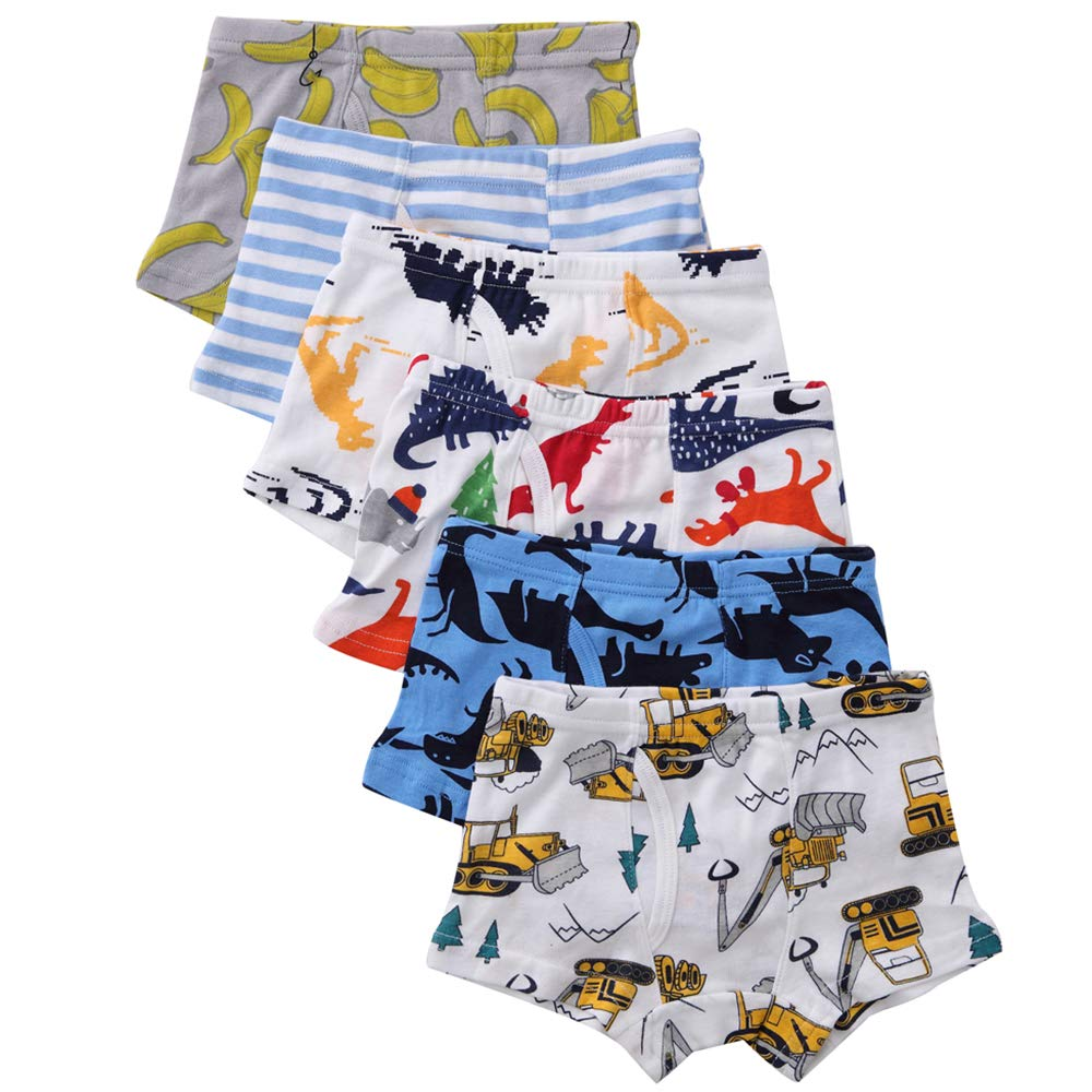 benetia Boys Toddler Underwear Cotton 6 -Pack 2t 3t