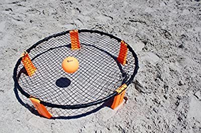 Striker Beach Volleyball Spike Game | Includes Ball (3) Net & Pump & Carry Bag | Exciting Fast Paced Outdoor Lawn Games | Perfect for Backyard, Beach, Tailgate | Fun for Kids Adults Family by Browns Bank