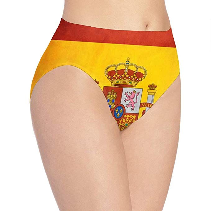 39fc1db6a49 Image Unavailable. Image not available for. Color  Spain Flag Art Ms. Print  Cute Funny Underwear Panties Sexy Female Gift