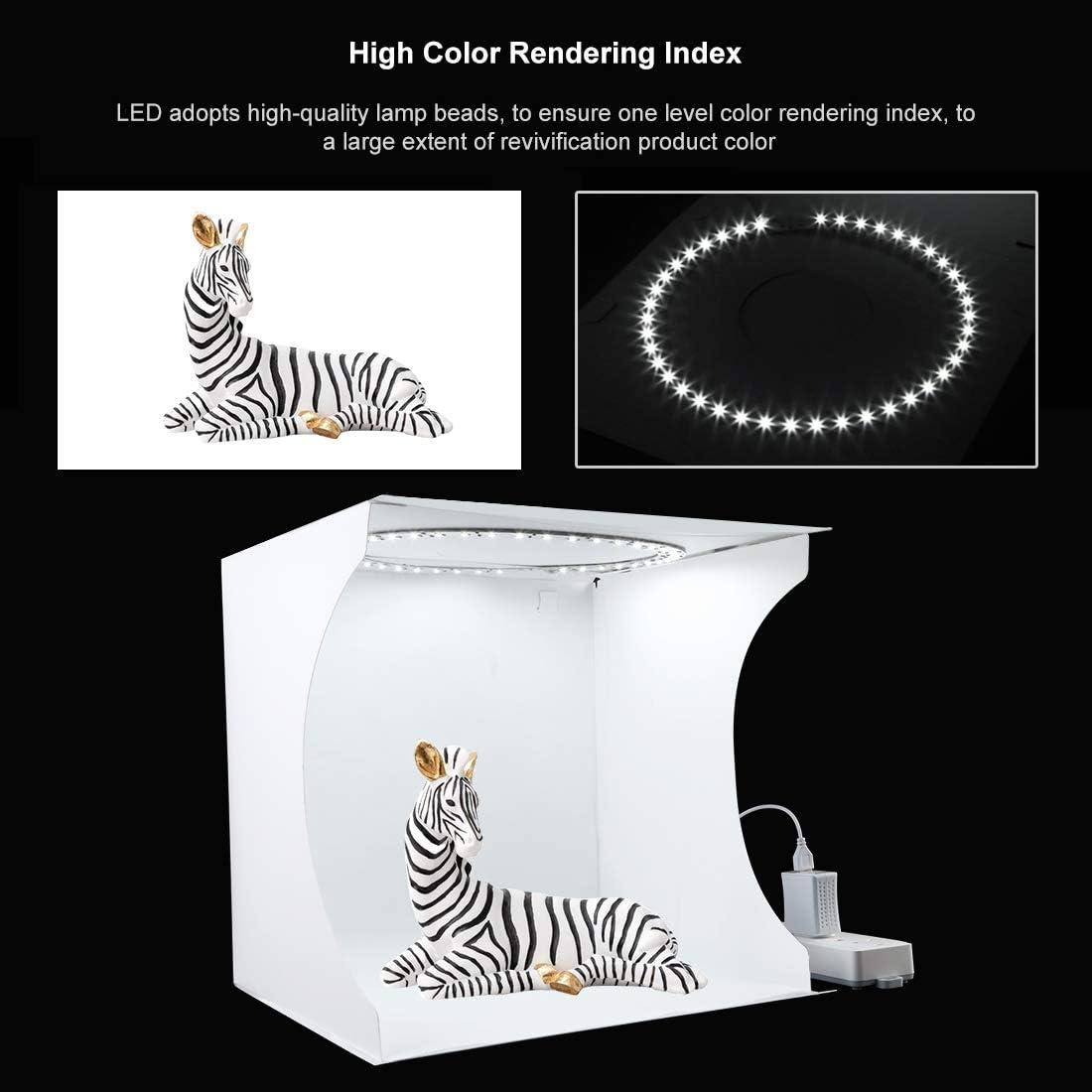 6 Backdrops for Product Display Photography Shooting Light Tent Kit PULUZ 30cm Portable Ring Light Photo Studio Light Box White Lighting Softbox with 80pcs LED Lights