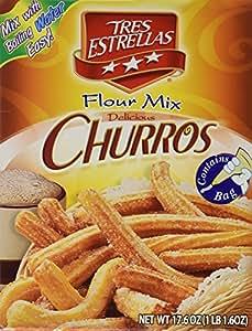 Tres Estrellas Churros Flour Mix, 17.6 oz.