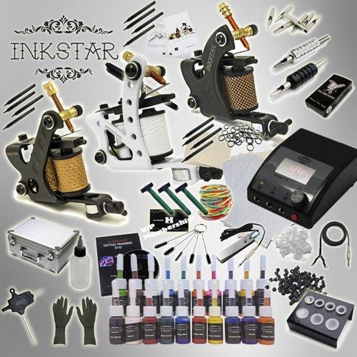 Complete Tattoo Kit Inkstar Apprentice C 3 Machine Gun Power Supply 20 Truecolor Ink Starter Set TK