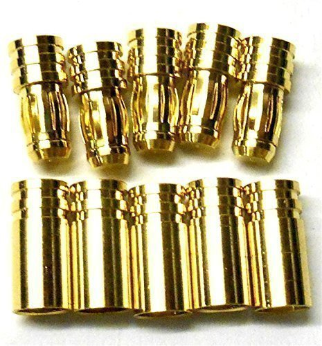 C0501x5 RC Connector 5mm 5.0mm Gold Plated Male and Female Bullet Banana x 5 BSP