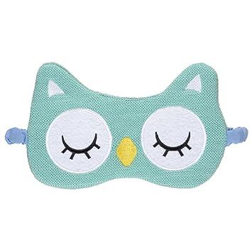 Ojo Máscara Antifaz para dormir búho