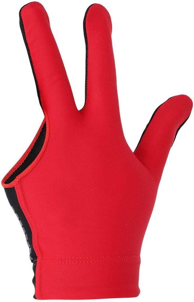 Alomejor Billard Shooters Handschuhe Lef Hand 3 Finger Handschuh Pool Snooker Queue Handschuhe