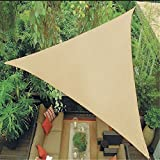 Artouch 12' x 12' x 12' Triangle Sun Shade Sails, 185GSM Shade Sail UV Block for Patio Garden Outdoor Facility and Camping