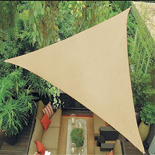 Belle Dura 12' x 12' x 12' Triangle Sun Shade Sails, 185GSM Shade Sail UV Block for Patio Garden Outdoor Facility and Camping
