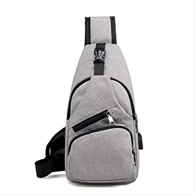 ELDARSSLHCB Fashion chest bag Hombres Usb Recargable Chest Pack ...