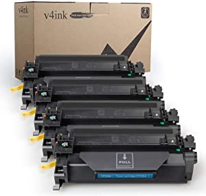 v4ink 4PK High Yield Compatible Toner Cartridge Replacement for HP 26X CF226X 26A CF226A for HP Laserjet Pro M402n M402dn M402dw M402d MFP M426dw M426fdw M426fdn Printer Toner