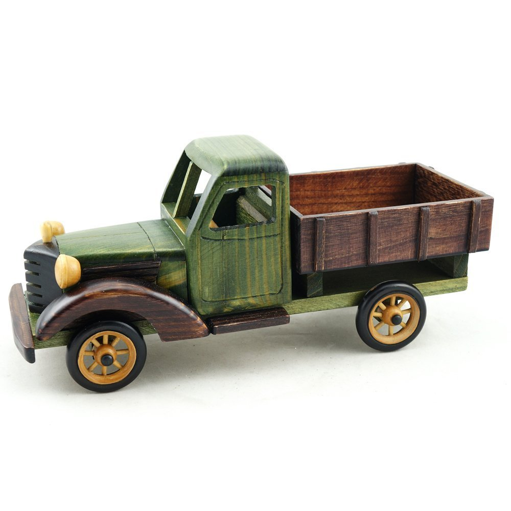Amazon.com: Cosette Vintage Collect Realistic Handmade Green Truck ...