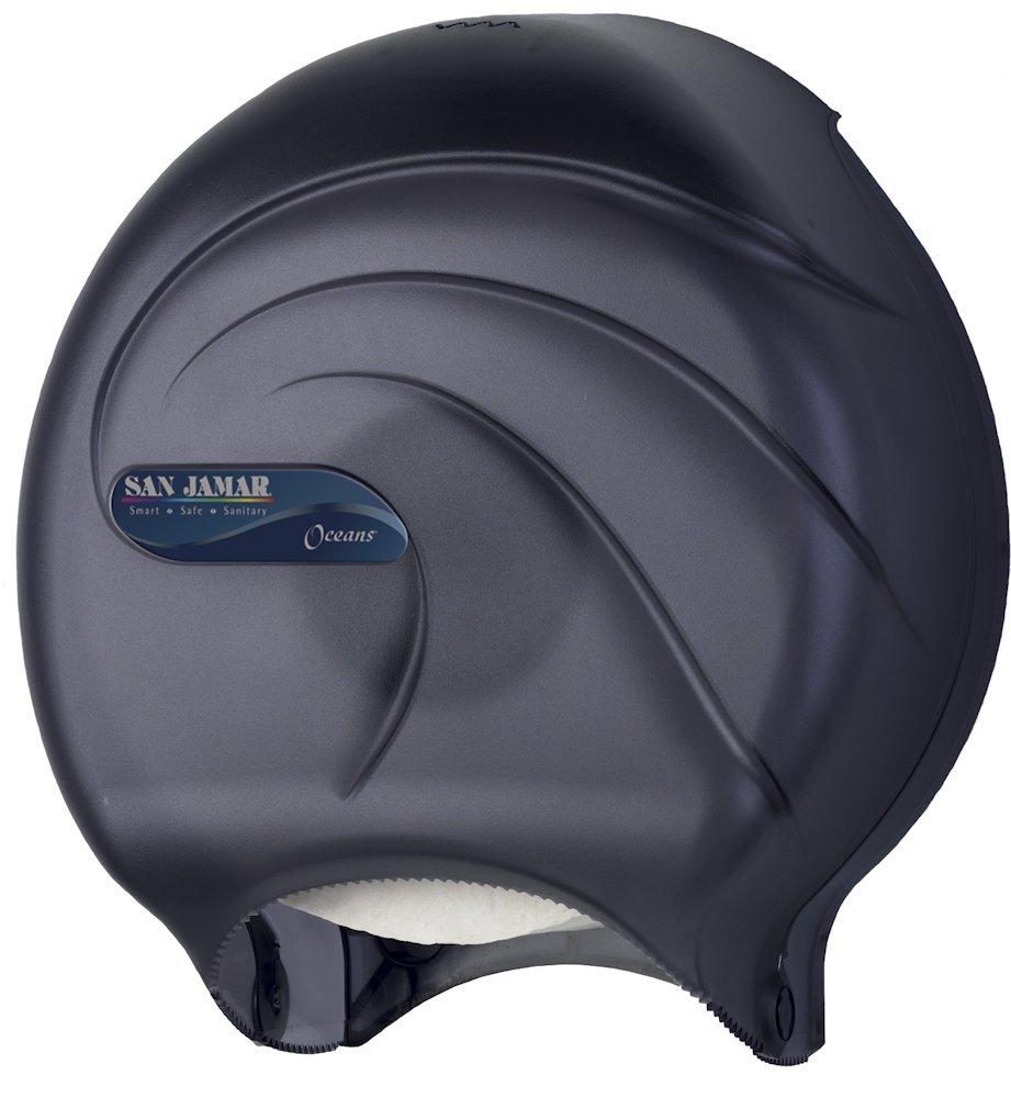 amazoncom san jamar r2090tbk single jbt tissue dispenser oceans 10 14 x 5 58 x 12 black pearl industrial u0026 scientific - San Jamar