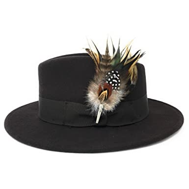 341d76cab46 Burford Women s Showerproof Wool Fedora Hat with Country Feather Brooch  (Small - 55cm